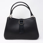 Black Coated Canvas Handbag