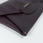 Antigona Purple Leather Clutch