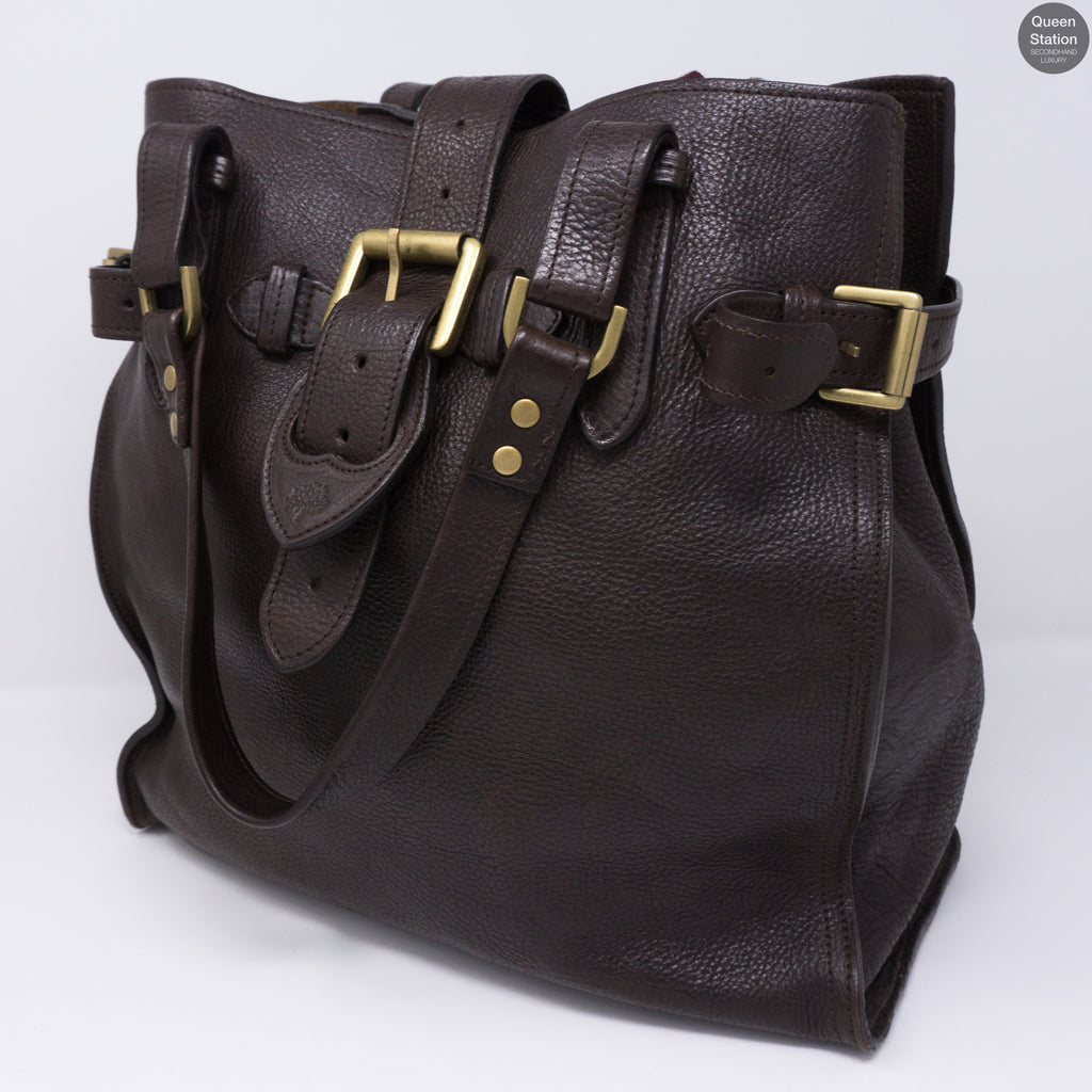 47e183006abb Elgin Brown Leather Satchel Bag – Queen Station