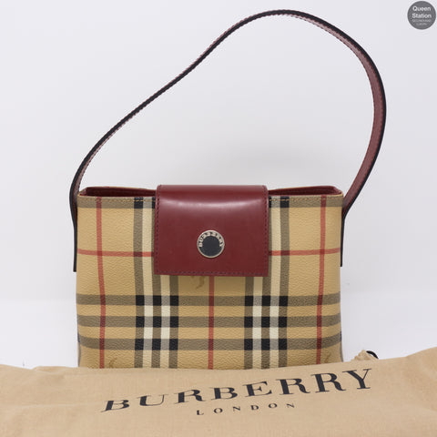 Nova Red Checked Small Handbag