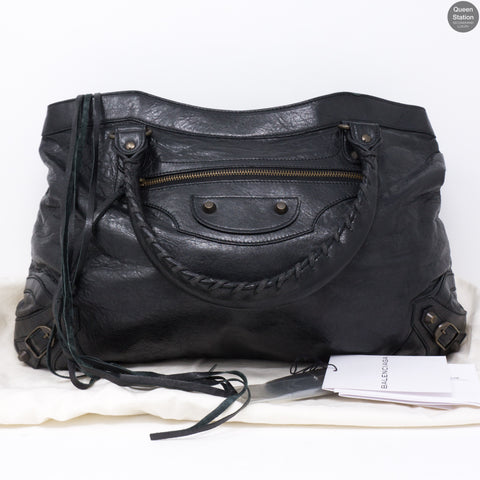Purse Handbag Black Leather