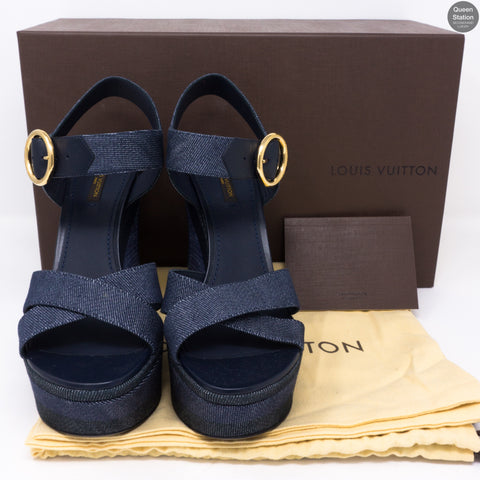 Denim Shore Wedge Sandals