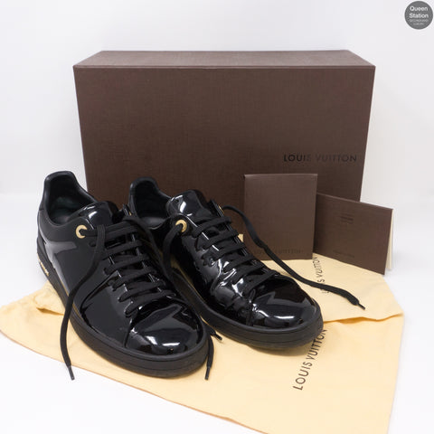 Black Leather Frontrow Sneakers