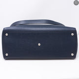2Jours Medium Navy Leather Tote