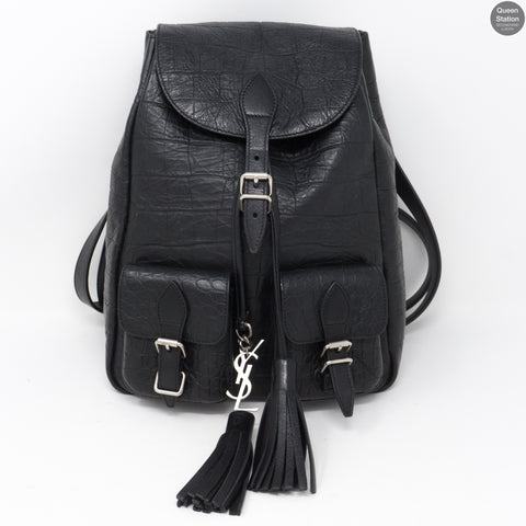 Small Festival Backpack Black Leather