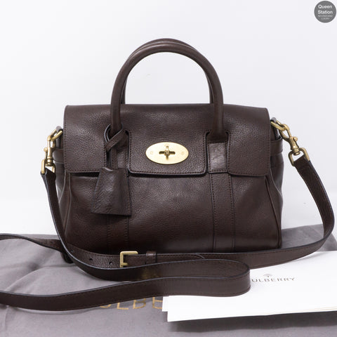Small Bayswater Satchel Chocolate Leather