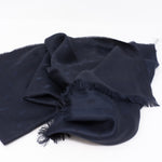 Dark Blue Silk & Wool Scarf