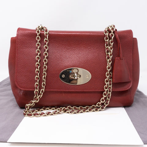 Lily Medium Red Leather
