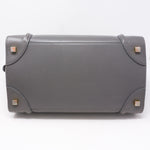 Mini Luggage Bag Gray Leather