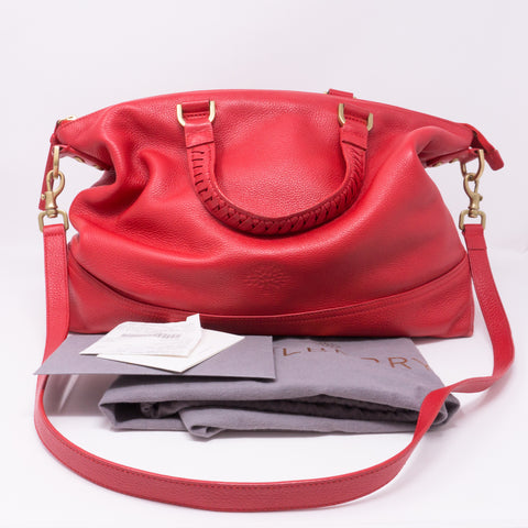 Effie Tote Red Leather