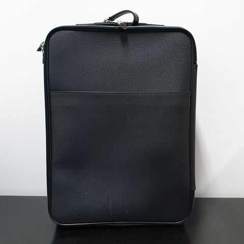 Pegase Luggage Black Taiga Leather
