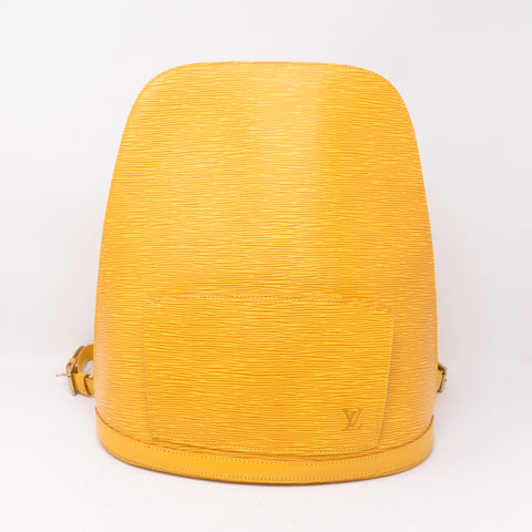 Gobelines Backpack Yellow Epi Leather