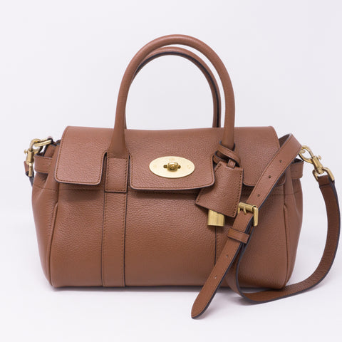 Small Bayswater Satchel Brown Leather
