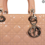 Lady Dior Large Pink Patent Leather