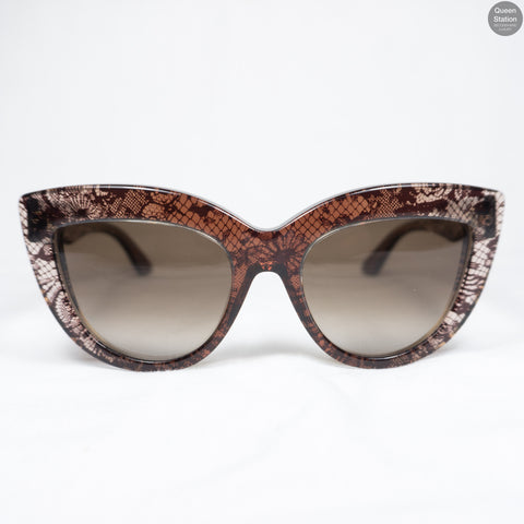 Dark Red Lace Sunglasses