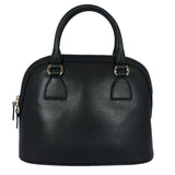 Dome Black Leather