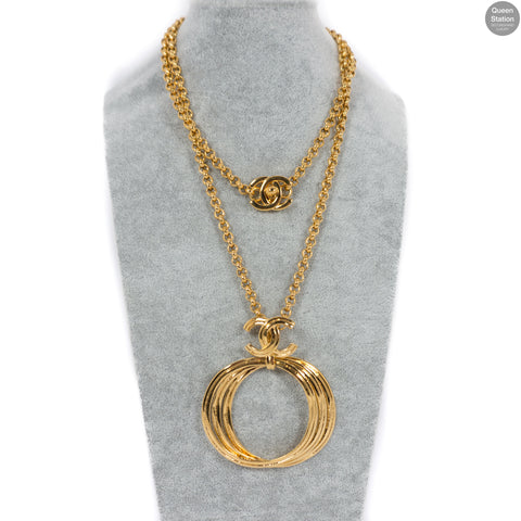 Long CC Ring Necklace