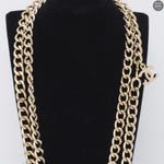 CC Silver Chain Letters Belt & Necklace