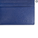 Blue Saffiano Leather Card Holder