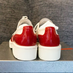 White Red Leather Shoes