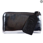 Metallic Silver Patent Leather Wallet