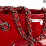 Red Lipstick Patent Leather Tote Bag