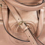 Sakura Pink Leather Shoulder Bag