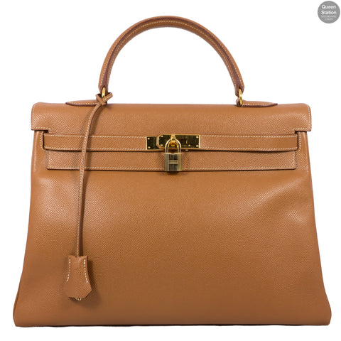 Kelly 35 Gold Leather GHW