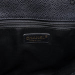 GST Grand Shopping Tote Black Caviarskin