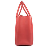 Executive Cerf Coral Pink Leather Tote