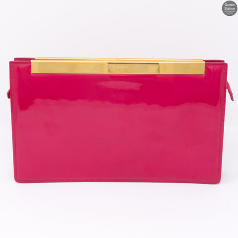 Pink & Gold Patent Leather Clutch
