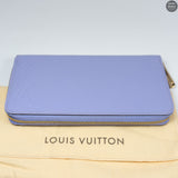 Zippy Wallet Purple Vernis Leather