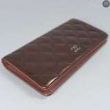 Matelasse Striped Metallic Bronze Leather Wallet