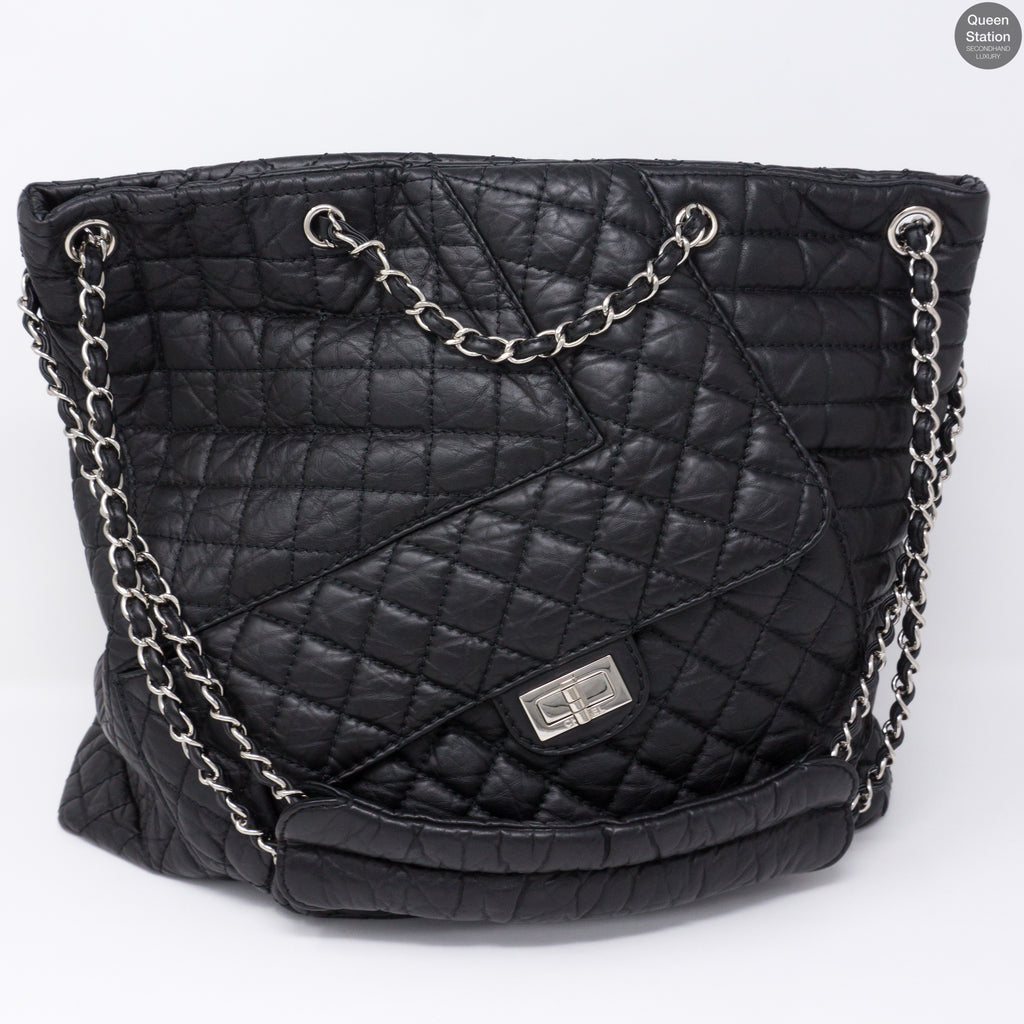 7e3329f830137a Jumbo XL 10A Quilted Leather Tote Bag – Queen Station