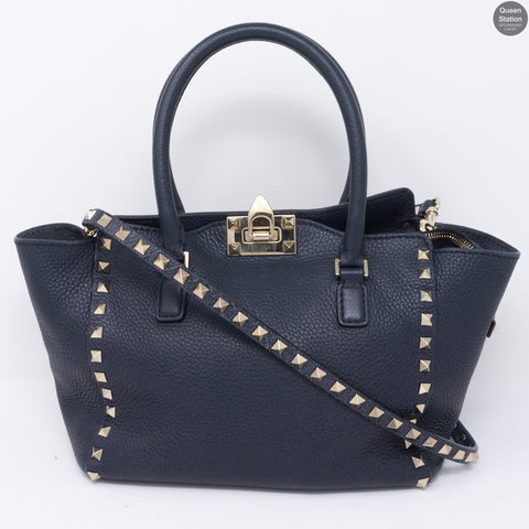 Garavani Rockstud Blue Leather Bag