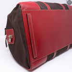 Red Brown Weekender Duffle Bag
