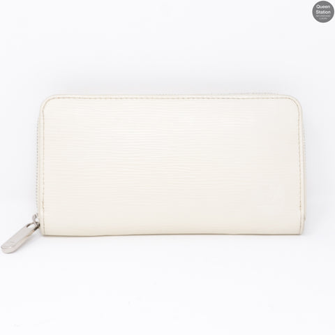 Zippy Wallet White Epi Leather