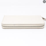 Zippy White Epi Leather Wallet