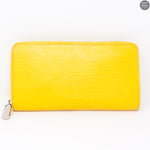 Zippy Yellow Epi Leather Wallet