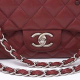 Classic Double Flap Maxi Jumbo Red Caviarskin Leather SHW