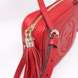 Disco Soho Red Leather Bag