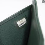 Boy Small Flap Wallet Green Caviarskin Leather