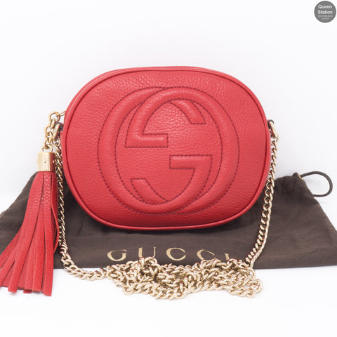 15452501426f GG Marmont Matelassé Super Mini Dusty Pink. Sold Out. Sold. View. Soho Mini  Chain Bag Red Leather. Soho Mini Chain Bag Red Leather