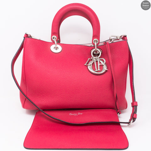 Diorissimo Medium Fuchsia Leather