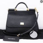Sicily Medium Black Dauphine Leather
