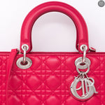 Lady Dior Large Red Leather