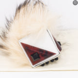 Prism Triangle Monster Fur Purse Charm
