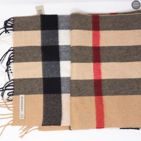 Large Classic Cashmere Scarf In Check