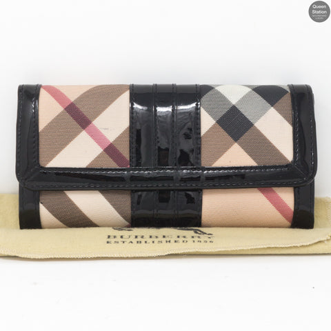 Nova Check Black Wallet
