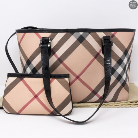 Super Nova Check Nickie Tote With Pouch
